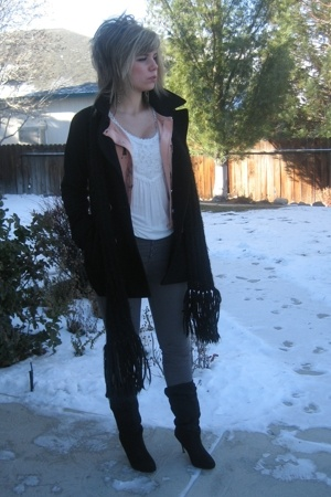 delias jacket - forever 21 sweater - forever 21 boots