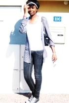 Bershka jeans - shirt - Royal wear vest - Converse shoes