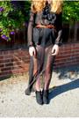 Black-sheer-maxi-diy-skirt