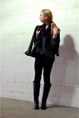 polka dot vintage blouse