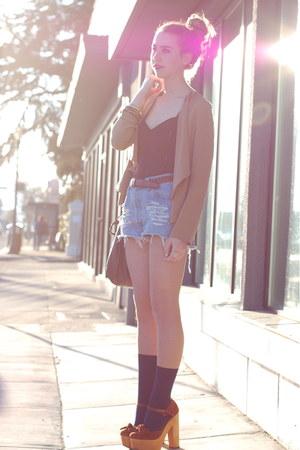 Jeffrey Campbell heels - vintage shorts - vintage top