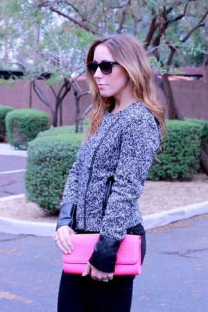 Victorias Secret jacket - Zara jeans - Ralph Lauren bag - Target sunglasses