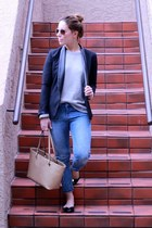 Gap jeans - French Connection sweater - American Eagle blazer - calvin klein bag