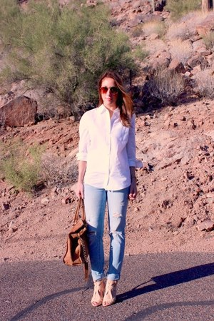 abercrombie and fitch jeans - H&M sunglasses - Nordstrom heels