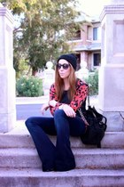 ann taylor sweater - 7 for all mankind jeans - Target hat - Michael Kors bag