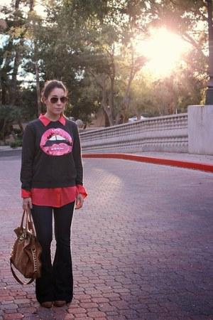 Forever 21 sweatshirt - rag & bone boots - Express jeans - Michael Kors bag