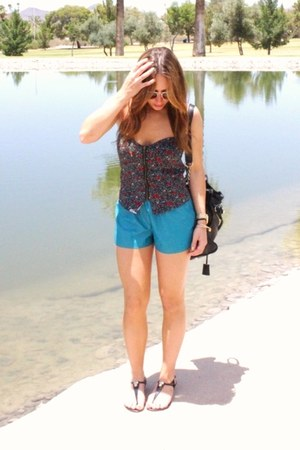 Urban Outfitters top - lucca couture shorts - Michael Kors sandals