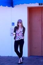 Zara jeans - J Crew hat - Nordstrom sweater - H & M sunglasses