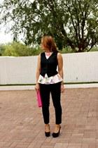 Target pants - Ralph Lauren bag - H&M top - sam edelman pumps - Target vest