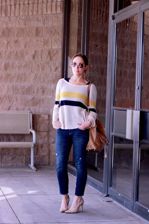Tobi sweater - Gap jeans - Victorias Secret shirt - Michael Kors bag