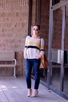 Tobi sweater - Gap jeans - Victorias Secret shirt - Michael Kors bag
