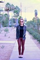 Victorias Secret jacket - Old Navy t-shirt - H&M pants - Nine West pumps