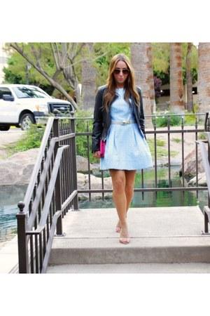 Express jacket - Zara shoes - Trina Turk dress - Target purse - Target belt