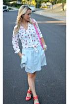 kiss hello fab shirt - pink Target bag - chambray Target skirt