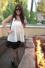 White-f21-shirt-black-f21-shorts-black-f21-purse-f21-shoes-gold-marc-by-