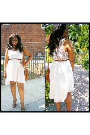 eggshell lace H&M dress