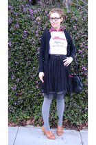 Marc by Marc Jacobs cardigan - Urban Outfitters tights - Anthropologie shoes - F