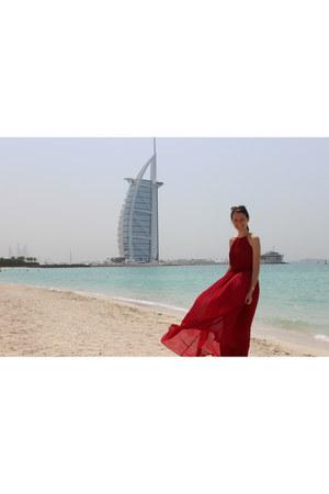 red Sheinside dress