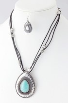 tear drop stone necklace