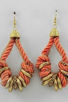 fabric rope earrings
