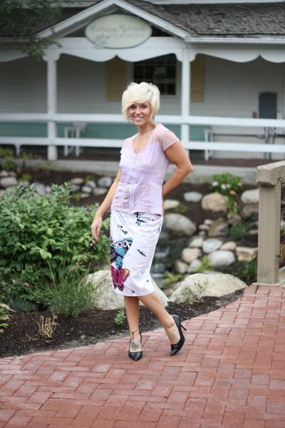 butterfly skirt JCP skirt - sheer Wet Seal top