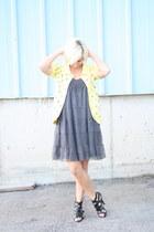 Forever 21 sweater - Target dress - gladiator Shiek heels