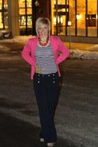pink blazer H&M blazer - sailor pants Forever 21 pants