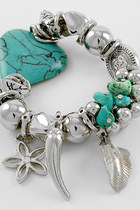 aquamarine charms stone bracelet