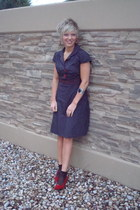 black polka dots Nordstrom dress - black red hearts H&M socks - black cuff Forev