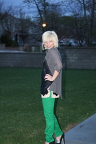 green colored pants H&M pants