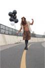 Ivory-vintage-vest-brown-full-skirt-zara-skirt-skirt