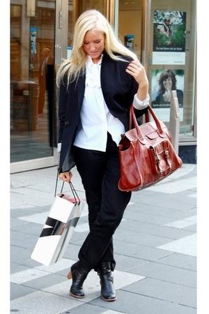 Chlo purse - whyred shoes - whyred blazer
