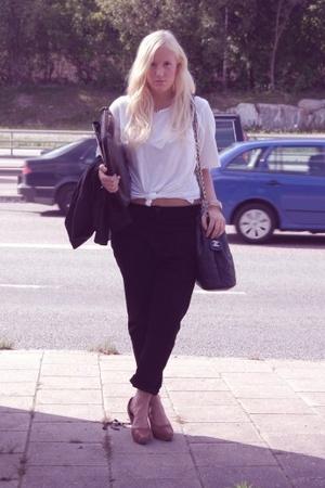 acne shoes - Chanel purse - Monki panties