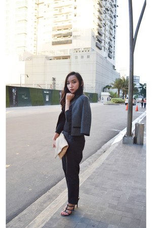 black Gap pants - dark gray Bayo jacket - black People are People heels