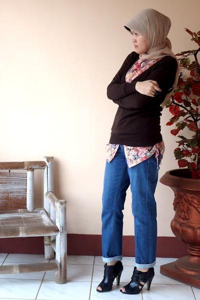 boyfriend Muji jeans - Aldo boots