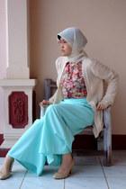 Zara shoes - floral unbranded shirt - Fashionistas pants - Mango cardigan
