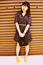 thrifted vintage dress - from my moms Prada purse - MY shoes - ribbon belt and y
