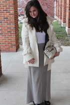 studded bootie BCBGMAXAZRIA shoes - Moda International coat - coach bag - ruffle