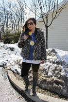 Cotton Candy jacket - BCBGMAXAZRIA leggings - Burberry sunglasses - cobalt J Cre