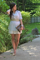 BCBGMAXAZRIA shirt - pouch American Apparel bag - free people shorts - BCBGMAXAZ
