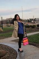 misty jacket - BCBGMAXAZRIA leggings - prada-striped DIY bag - studded kensie to