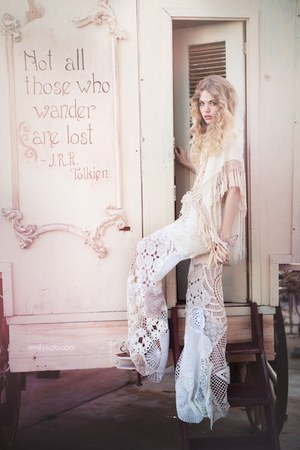 ivory lace crochet unknown pants
