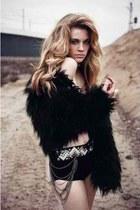 black fur unknown coat
