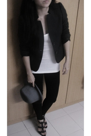 Topshop top - g2000 blazer - Bfs hat from Bali hat - Topshop leggings - Charles