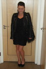 Sparkly-knit-oasis-dress-leather-biker-river-island-jacket-feather-river-isl