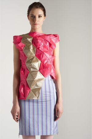 pink my own design top - blue my own design skirt