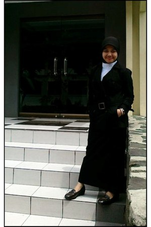 homemade blazer - homemade skirt - homemade top - dark brown Peter Keiza shoes