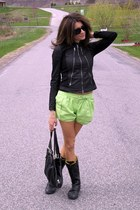 Lacoste boots - Armani Exchange jacket - Forever 21 shorts