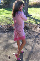 bubble gum Betsey Johnson dress - bubble gum Charles Davis shoes