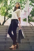 Topshop jeans - Zara blouse - Aldo heels